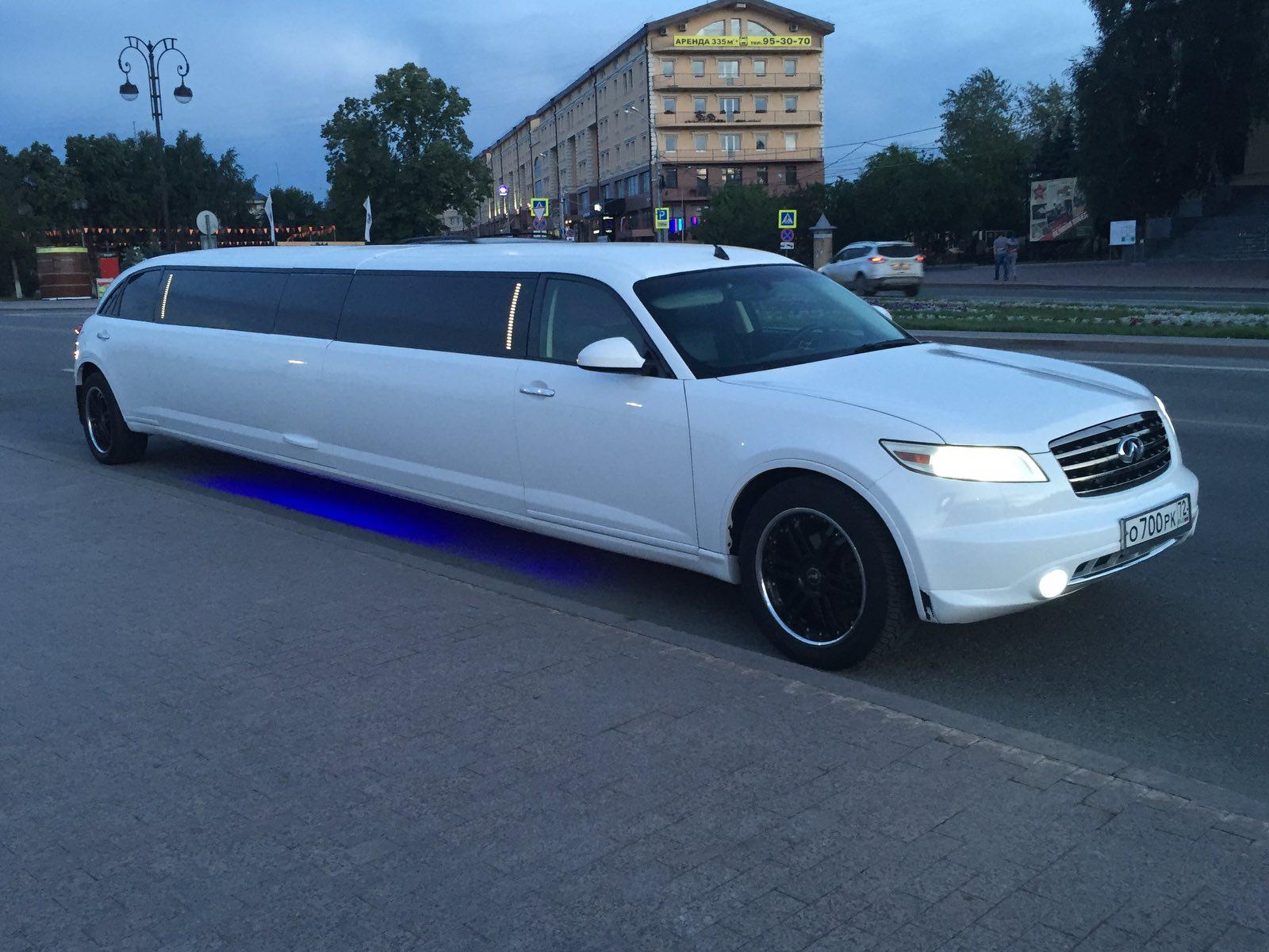 Прокат лимузина Infiniti FX-35 «STAR» в Тюмени от 2500 рублей.